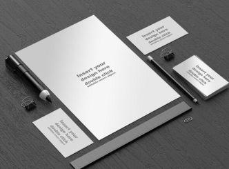 Black and White Office Branding Mockup PSD