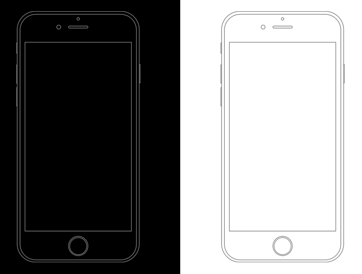 Free Minimal Apple iPhone 6s Wireframe Templates PSD - TitanUI