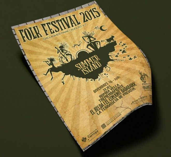 Retro Style Poster Template PSD