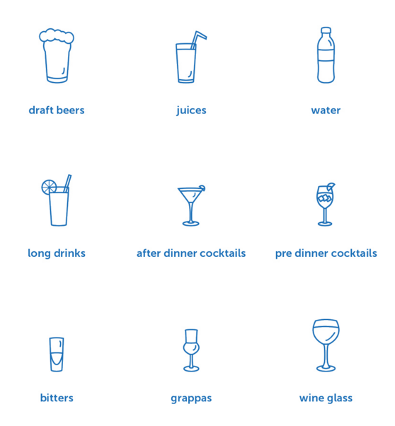 Drinks And Cocktails Line Icon Set Vector