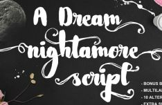Nightamore Brush Font