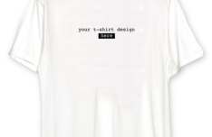 Customizable White Realistic T-shirt Mockup PSD