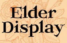 Elder Display Font