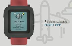 Flat Pebble Watch Vector Mockup