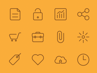 Pixel Perfect Vector Utility Icons