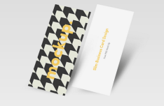 Slim Stylish Business Card PSD Template