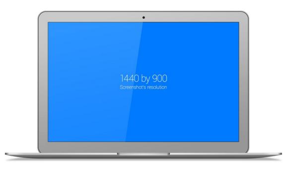 free flat macbook air vector template psd titanui