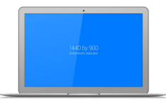 Flat Macbook Air Vector Template PSD