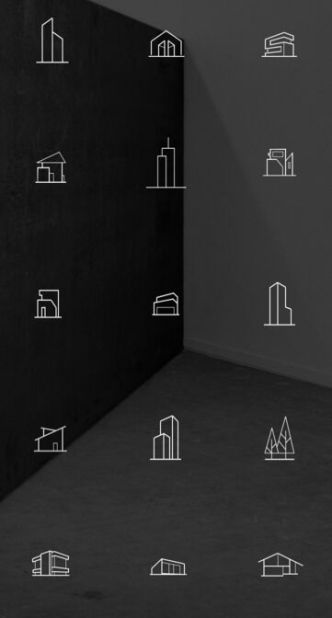 15 Architecture Line Icons PSD