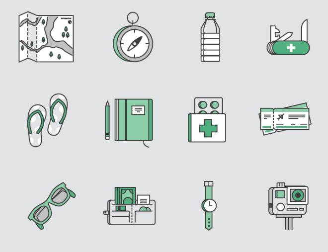 20 Travel Journey SVG Icons