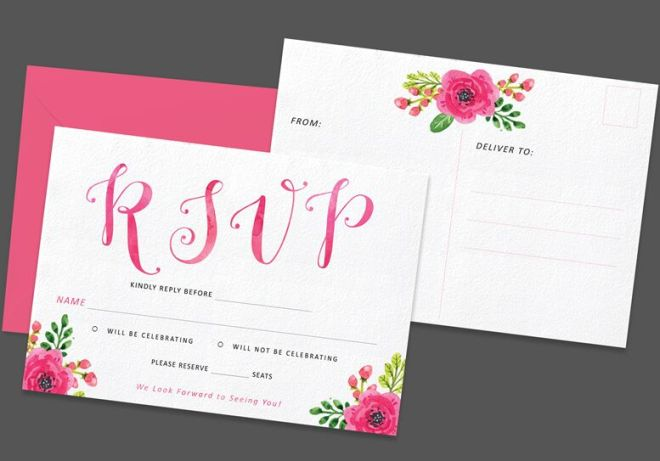 Printable Flower Postcard Template