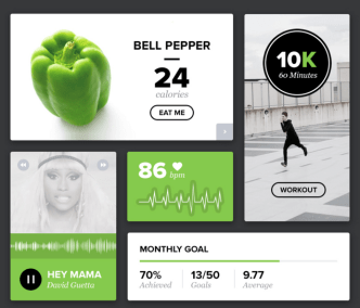 Green Health UI Kit PSD