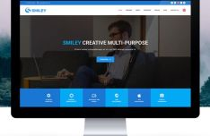 Smiley - Responsive Material Design Template PSD