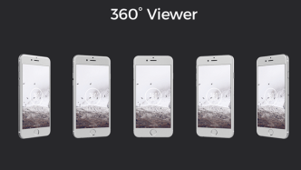 360° iPhone 6s Silver Mockups PSD