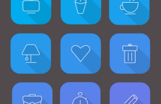 18+ Material line Icons Vector