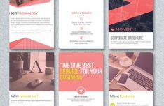 Corporate Trifold Brochure PSD Template