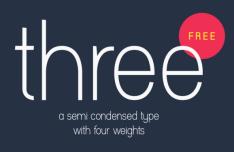 THREE Typeface