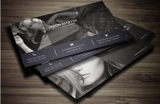 Print Ready Photography Business Card Template PSD
