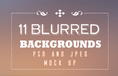 11 Blurred Backgrounds Pack (PSD+JPG)