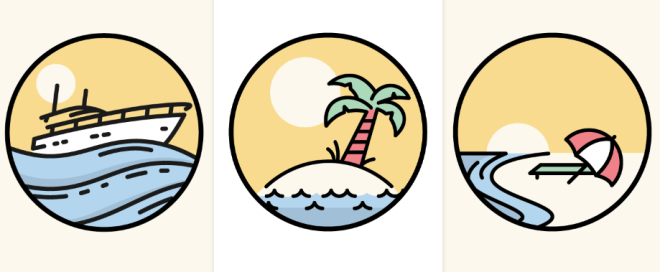 3 Summer Time Vector Icons