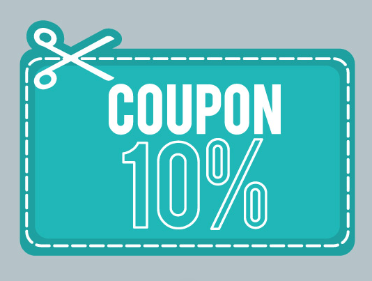 10 Coupon Vector