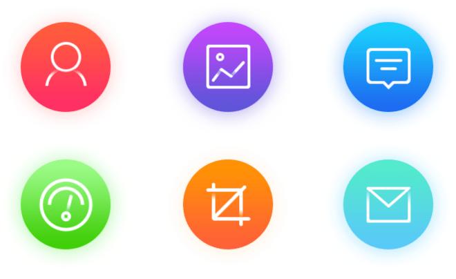 6 iOS 10 UI Icons PSD