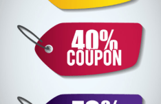 3 Coupon Tags Vector