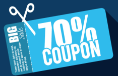 Flat 70 Coupon Big Save Vector