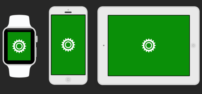 3 White Apple Devices PSD