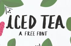 Iced Tea Handwritten Font