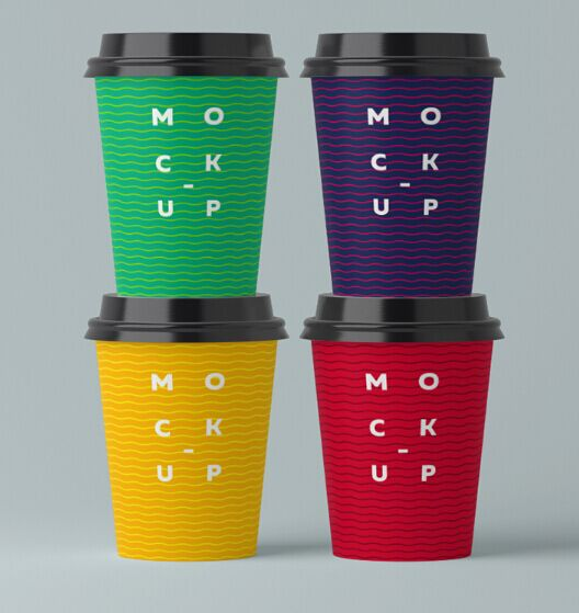 Paper Coffee Cup Mockups PSD