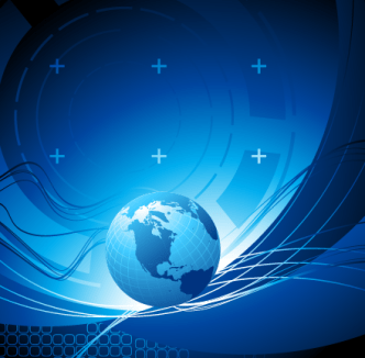 Blue Planet Concept Background Vector 02