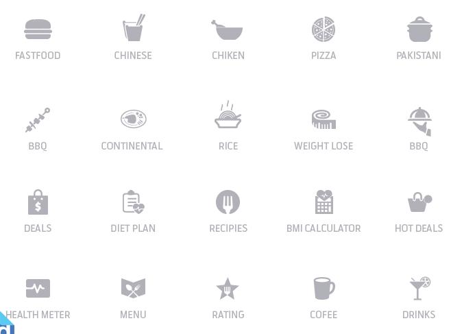 20 Minimal Food Icons PSD