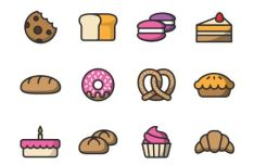 12 Bakery Vector Icons
