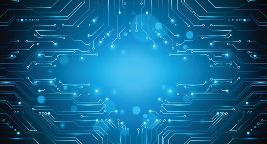 free blue circuit board  pcb  vector background
