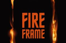 Standing Fire Frame Vector Template
