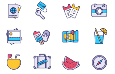 Vacation & Travel Vector Icons