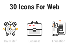 30 Vector Web Icons