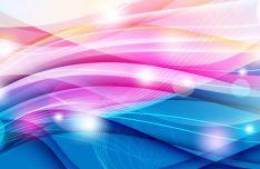 elegant-blue-pink-waves-background-vector