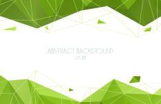 fresh-green-geometric-vector-background