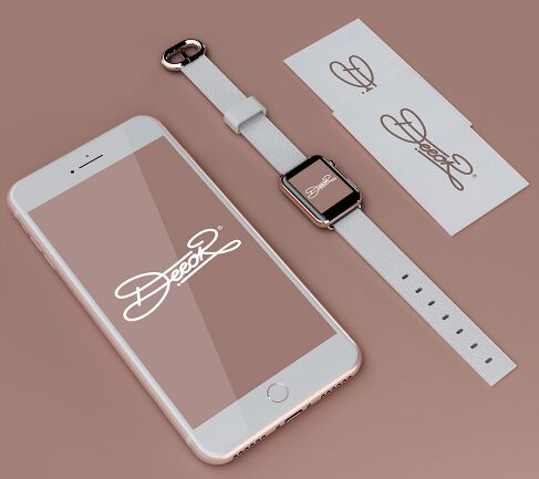 Free iphone 7 apple watch 2 business card psd mockup titanui iphone 7 apple watch 2 business card psd reheart Gallery