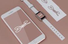 iphone-7-apple-watch-2-business-card-psd-mockup