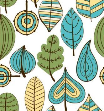 handdrawn-vector-leaves