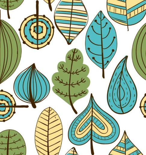 handdrawn-vector-leaves