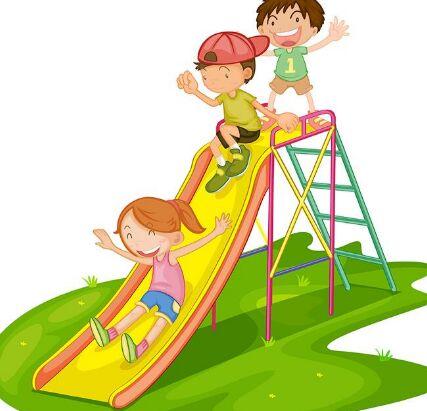 Free Cartoon Children Slide Vector Titanui