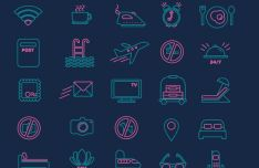 30-outlined-tourist-icons-vector