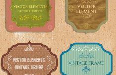 vintage-style-floral-labels-frames-vector