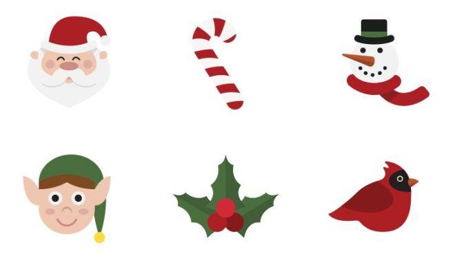 12-flat-christmas-icons-svg