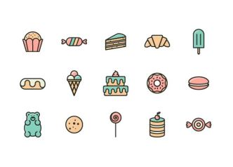 colorful-sweets-vector