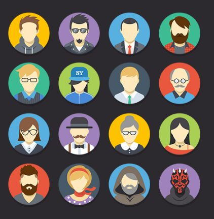 16-flat-colorful-avatars-vector